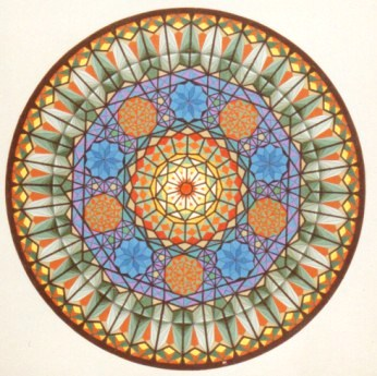 271 - Rosewindow Nr. V - equalateral 5-angles 5 [70x70]